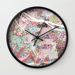 Portland map flowers Wall Clock