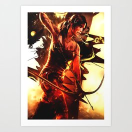 Tomb Raider Lara croft Art Print