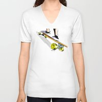 skate V-neck T-shirts featuring skate by Cal ce tin