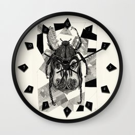 Doodle Beetle Wall Clock