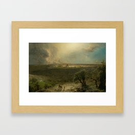 Jerusalem from the Mount of Olives by Frederic Edwin Church Framed Art Print