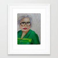 helen green Framed Art Prints featuring Chicken Hen Helen by Yvonne H Antonsen