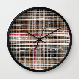structure with red lines Wall Clock