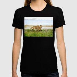 Curious Fox Pups T-shirt