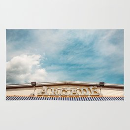 Arcade Sign on Boardwalk Rug