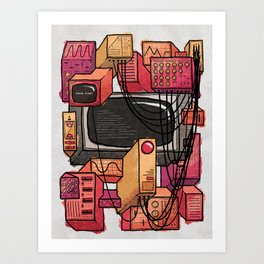 Digital Playground Art Print