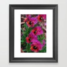 Pansies Painting Framed Art Print