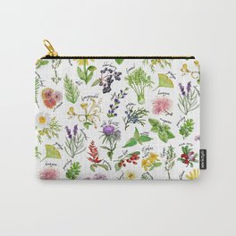Plants & Herbs Alphabet Carry-All Pouch