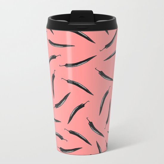 pepper pattern Metal Travel Mug