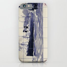 Red Star Line Antwerp New York Delft blue style iPhone Case
