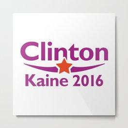 Clinton Kaine 2016 Metal Print