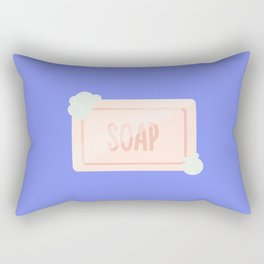 Pink piece of soap with bubbles Rectangular Pillow