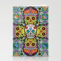 sugar skulls Stationery Cards featuring Sugar Skulls by Spooky Dooky