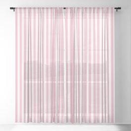 Erdbeereis am Stiel - Pink White Stripes Sheer Curtain