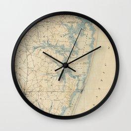 Vintage Map of Ocean City Maryland (1900) Wall Clock