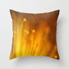 Yellow Strands Throw Pillow