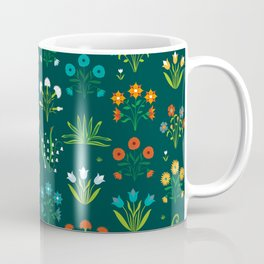 Floral green and red design Coffee Mug