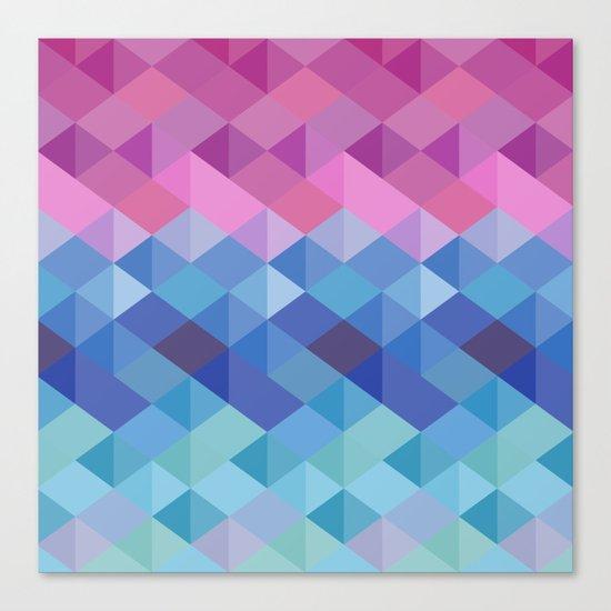 Retro Geometry Canvas Print