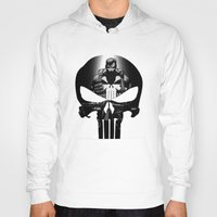 punisher Hoodies featuring The Punisher by dTydlacka