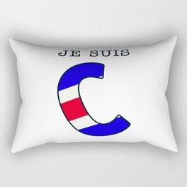 Je Suis Charlie #2  - Navy Alphabet Rectangular Pillow