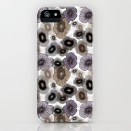Brown-gray flowers iPhone Case