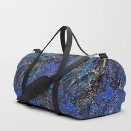 Precious Lapis Lazuli Stone Mineral Blue Gold Duffle Bag