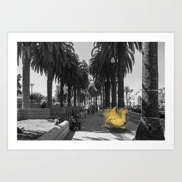 Unseen Monsters of San Francisco - Skimareedinks Blinko Art Print