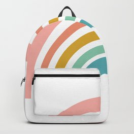 Simple Happy Rainbow Art Backpack