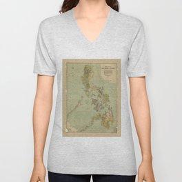 Map of the Philippine Islands (1908) Unisex V-Neck