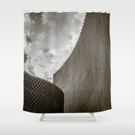 Texturized Brutalism Shower Curtain