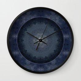 Bohemian Meditation Blue Moon Mandala A617 Wall Clock