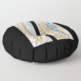 Life Path 11 (black background) Floor Pillow