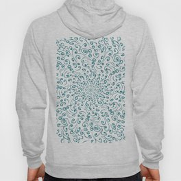 Teal lace Hoody