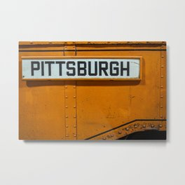 Pittsburgh Sign Of Trolleys Metal Print