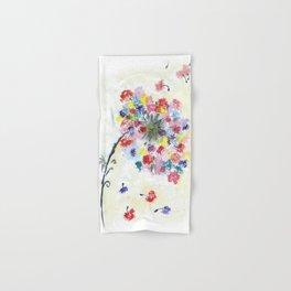 Dandelion watercolor illustration, rainbow colors, summer, free, painting Hand & Bath Towel