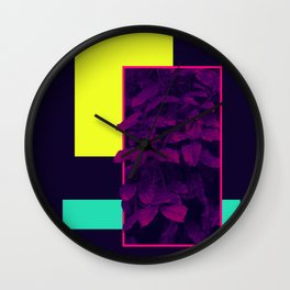 Neon Bush #society6 #retro Wall Clock