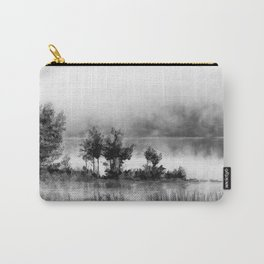 Watercolor Landscape on Water (Black and White) Carry-All Pouch