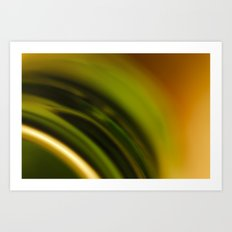 Green and Orange Art Print