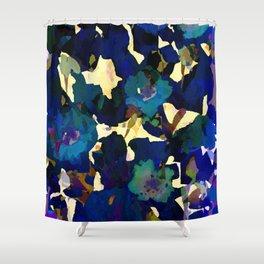 Daffodil Blue Shower Curtain
