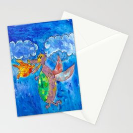 Silly Dragon Stationery Cards