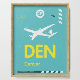 DEN Denver airport tag Serving Tray