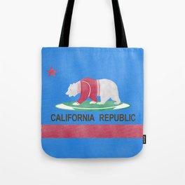 Polar Bear In California Tote Bag