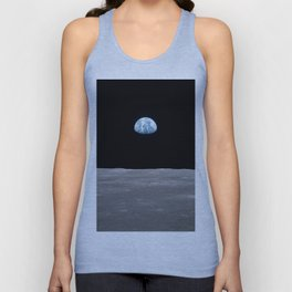 Earth rise over the Moon Unisex Tank Top