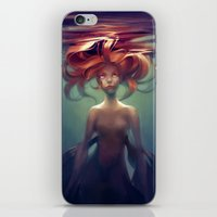 loish iPhone & iPod Skins featuring Mermaid by loish