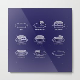 Phases of the moon(cake) // 月餅相 Metal Print