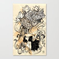 virgo Canvas Prints featuring Virgo by Anna Rosenfeld