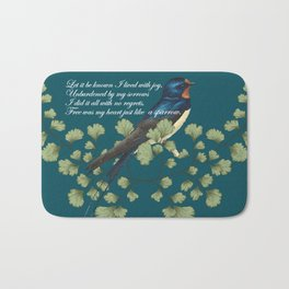 Wild is my sparrow heart Bath Mat