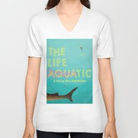 murray V-neck T-shirts featuring The Life Aquatic by Wharton