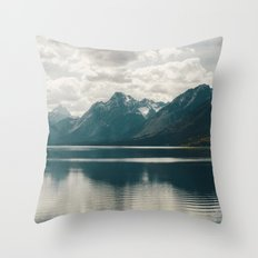 Reflection On Jenny Lake Throw Pillow