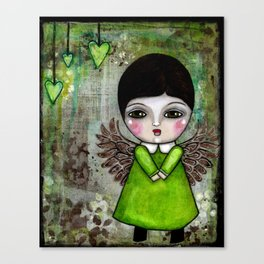 My Little Creepy Girl Angel 2 Published in Somerset Studio Gallery Canvas Print